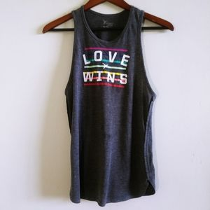 Old Navy Woman Gray Pride Love Wins Tank Top Small